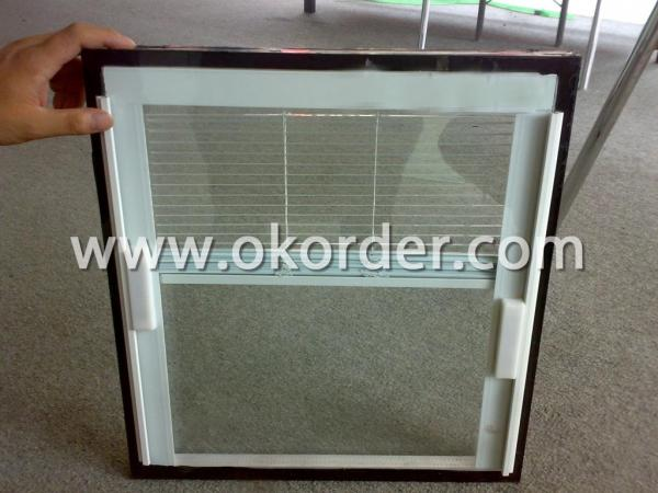 3-19mm tempered insulating glass with shutters