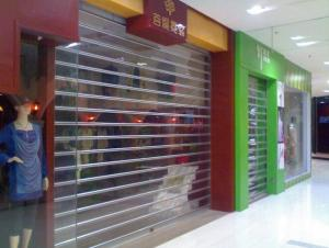 Transparent Door with Roller Shutter for Shopping Mall