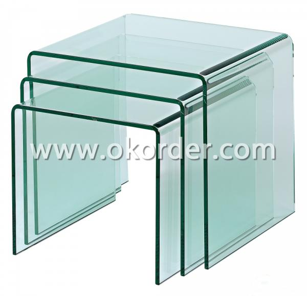 3-19mm tempered curved/hot-bent glass