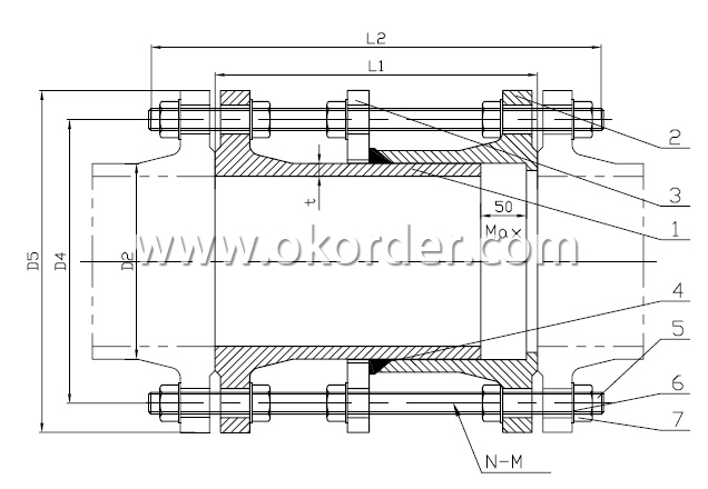 DRAWING OF DUCTILE IRON DISMANTLING JOINT