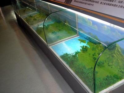 6-8mm tempered curved glass/hot-bent glass for counter