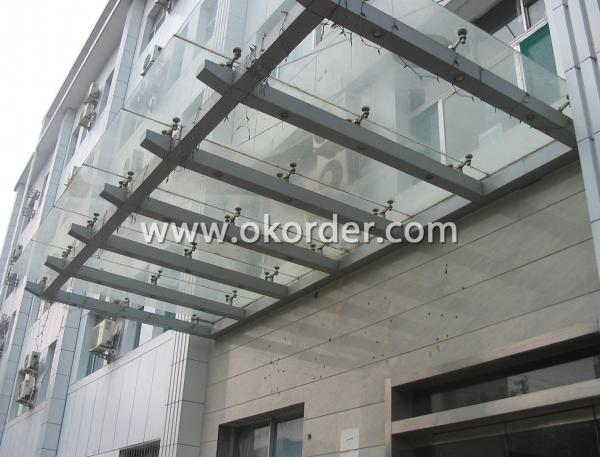 tempered insulating glass for canopy, handrails, windows, etc.