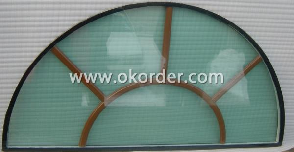 round low-e tempered insulating glass window