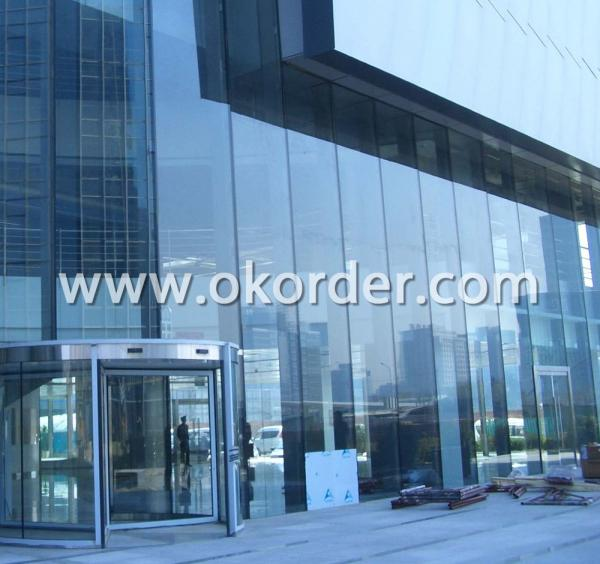 double silver coating low-e insulating glass for glass curtain walls and building