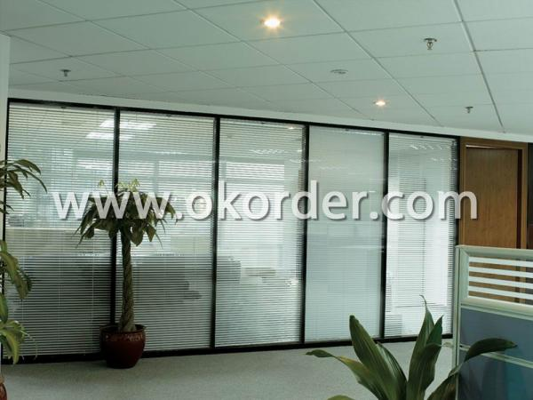 tempered insulated glass for glass partition with louver/blind/shutters