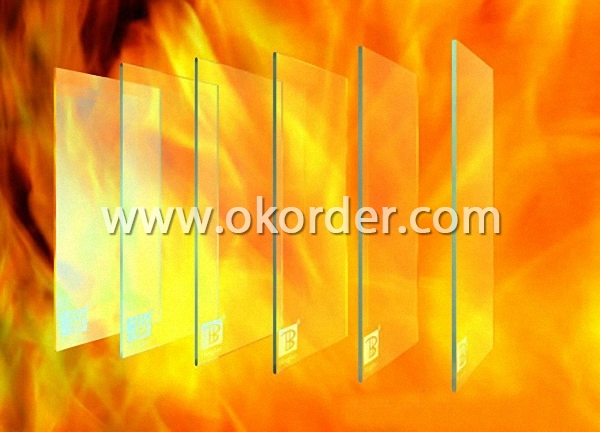 3-19mm fire-resistant glass