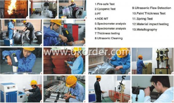 Main Test Of High Quality Forged Steel Full Bore High Pressure Ball Valve: