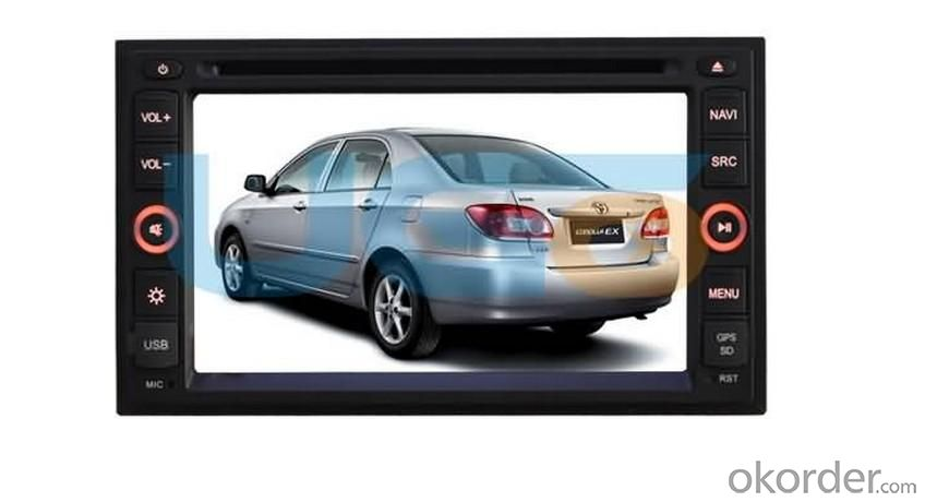 6.5 Inch Digital panel Digital Car DVD Universal  White color and Customize Color Skin