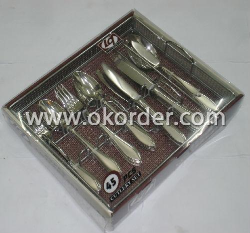 2013 Elegant Hotel And Restaurant Stainless Steel Flatware Set