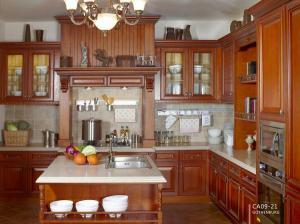 Solid Wood Ktichen Cabinet CC003