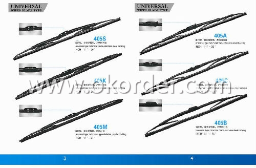 Universal Windshield Wiper Blade-Stainless Steel Frame with Natural Rubber/Silicon Rubber - 308