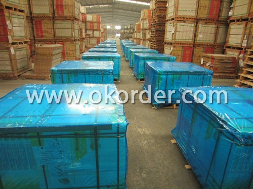packing of glazed tile