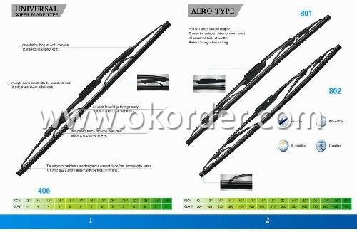 Universal Windshield Wiper Blade-Stainless Steel Frame with Natural Rubber/Silicon Rubber - 550