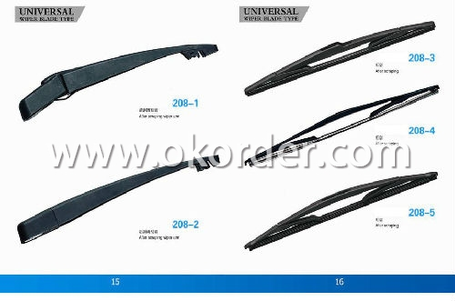 Universal Windshield Wiper Blade-Stainless Steel Frame with Natural Rubber/Silicon Rubber - 907