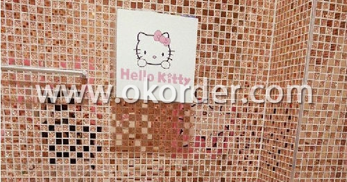 Glass Mosaic Gray With Pink CH38A17