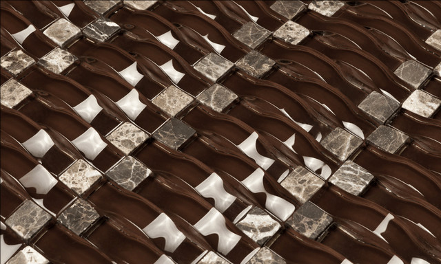Glass Mosaic Chocolate Brown SUNO26606