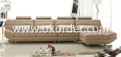 Living Room Leather Sofa Set
