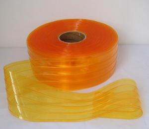 Anti Insect PVC Strip Curtain in Light Amber Color