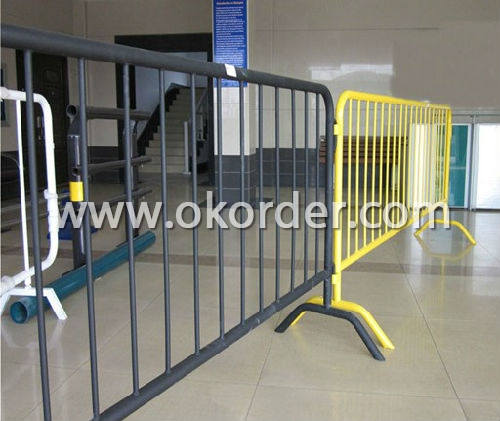 Crowd Control Barriers usage