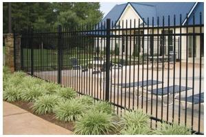 PVC Coated And Galvanized Steel Picket Fence