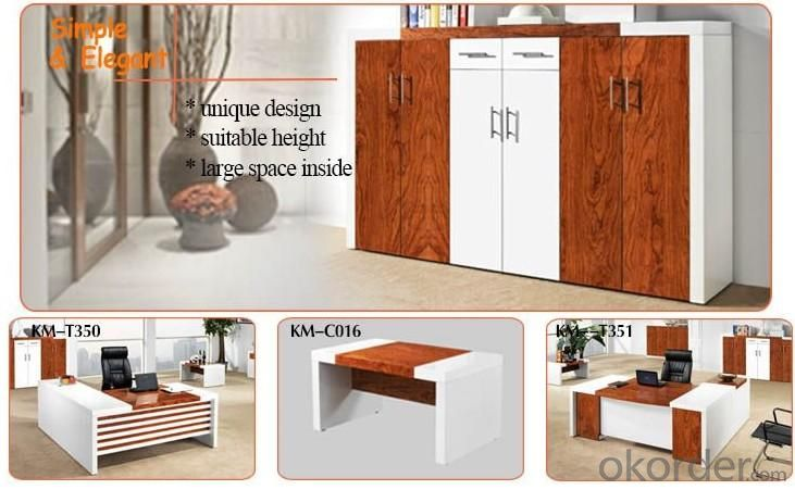 Veneer and Lacquer Office Cabinet