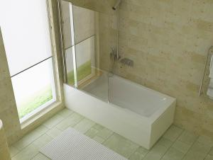 Folding Bathtub Shower Screen