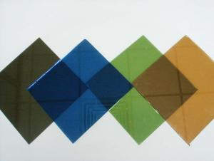 Colored Heat Reflective Coated Glass