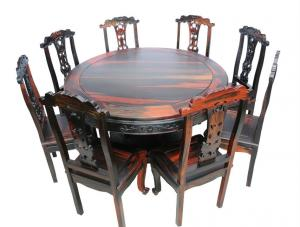 Round Solid Wood Dinning Table