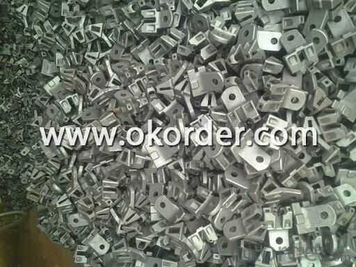 Scaffolding Parts-Color Galvanized Brace End Thickness 2.5mm