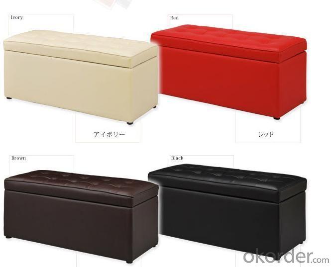 Large Faux Leather Folding Storage Ottoman