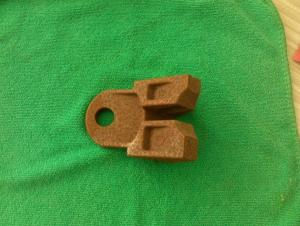 Scaffolding Parts-Color Galvanized Brace End Thickness 4.0mm