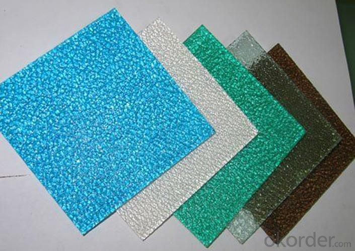 High Quality Embossed Polycarbonate Sheet With UV Protection