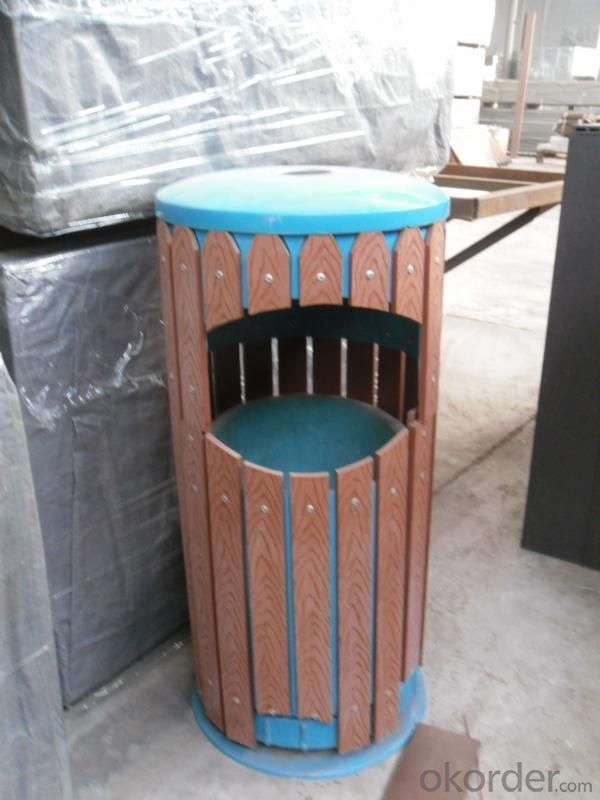 Wood Plastic Compostie  Dustbin CMAX L026