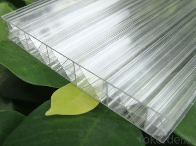 Triple-Wall Polycarbonate Sheet With UV Protection And Different Colors