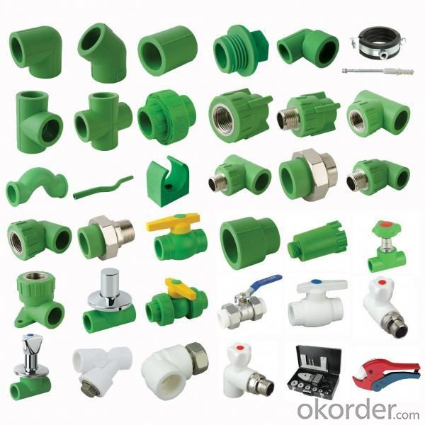 PPR Pipe Fittings (green)