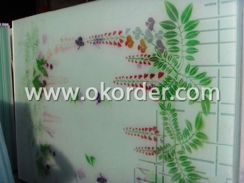 5-6-8mm silkscreen printing glass for decoration