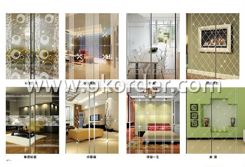 3-19mm engraved glass for decoration