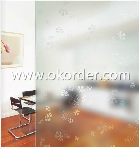 4-5-6mm acid etched glass for partitions,etc.