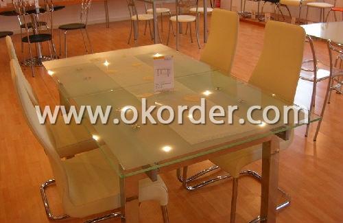 15-19mm silkscreen printing glass for furniture like table, etc.