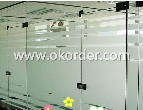 4-5mm clear acid etched glass for partions, windows, etc