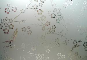 Patterned Acid Etched Glass