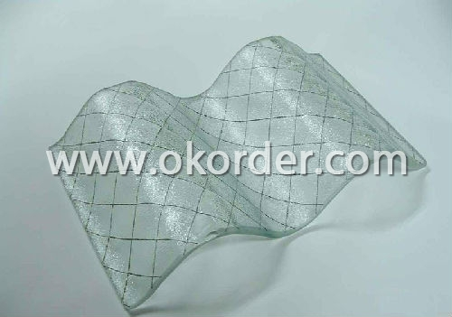 4mm/6mm curved wired glass for decorations and projects
