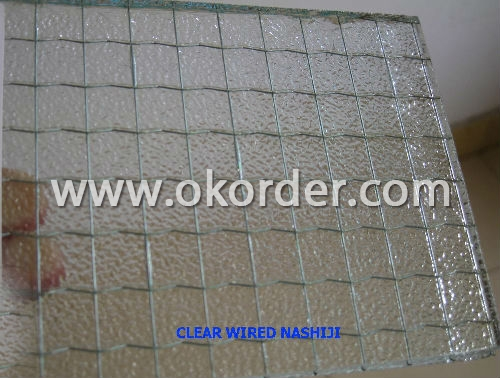 4-6mm patterned wired glass