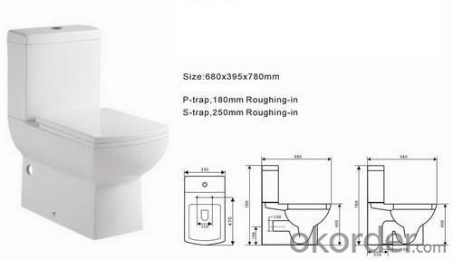 Ceramic Toilet CNT-1014