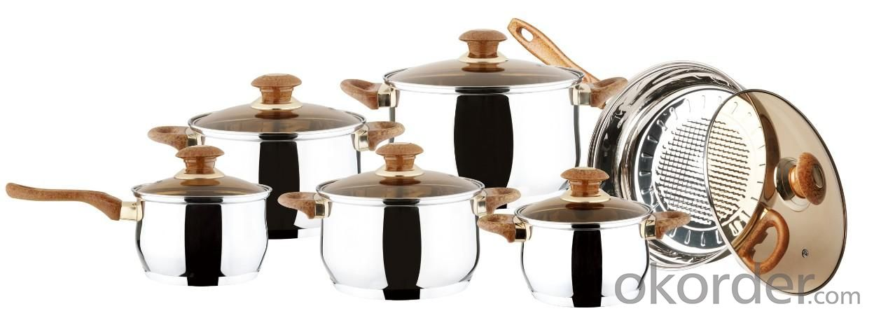 18pcs Stainless Steel Cookware Sets