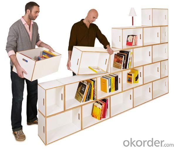 White Unique Bookcase