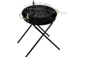 Simple Round BBQ Grill--SRAR23018D