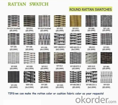 Aluminum Rattan Sofa Set SS028