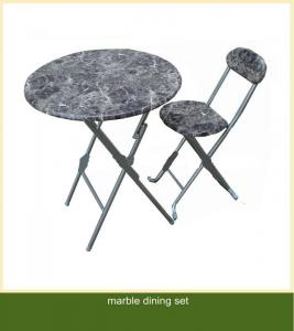 Marble-Like Top Dining Set