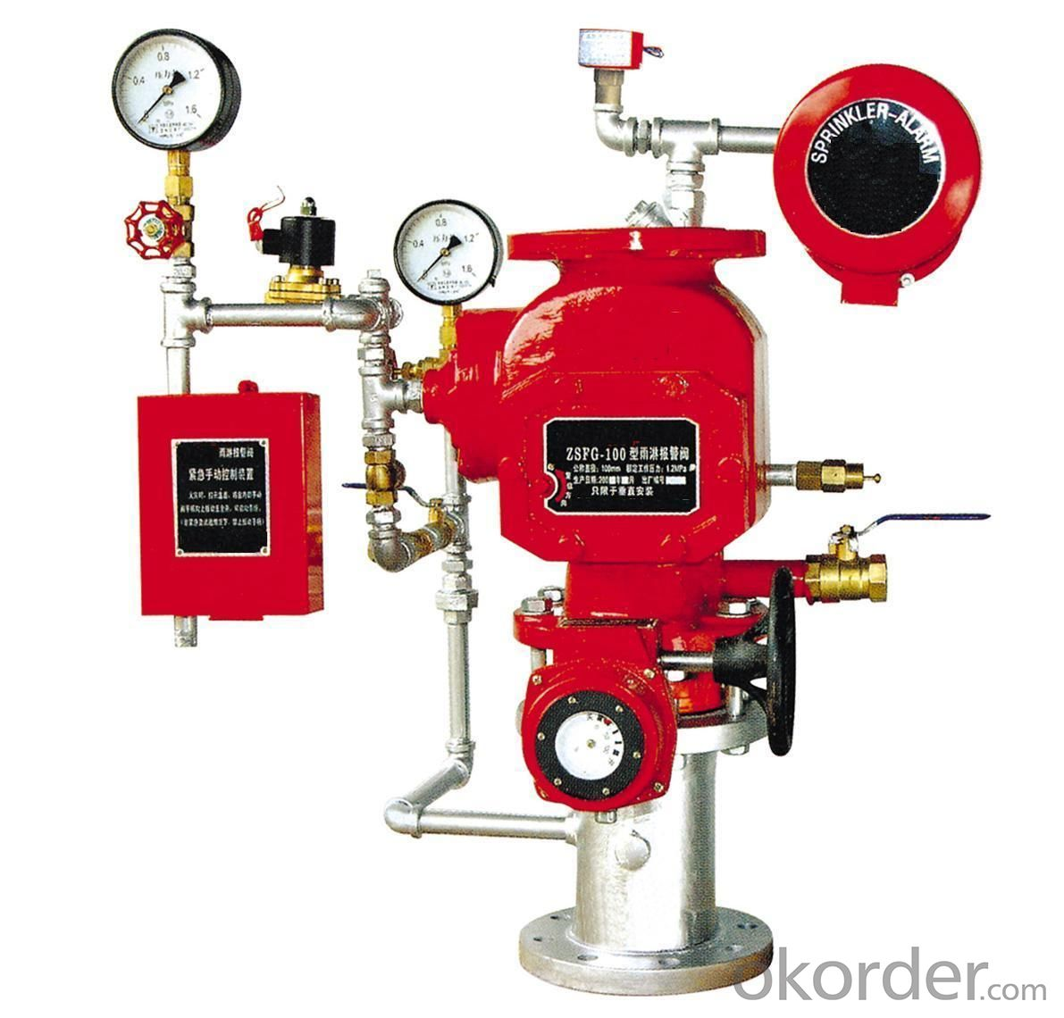 Alarm check valve cad drawing for Fire sprinkler system cost calculator